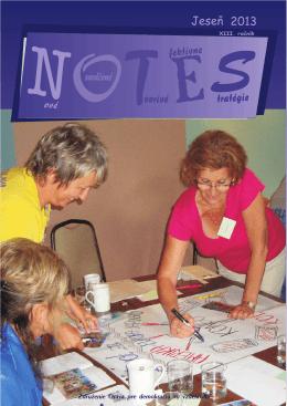 Notes Jeseň 2013