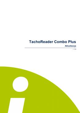 TachoReader Combo Plus - Pomoc
