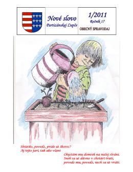 1RYp VORYR 1/2011 - Obec Partizánska Ľupča
