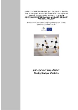 Projektový manažment v kocke