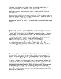 1. Návod na ošetrovanie plastových okien Deceuninck