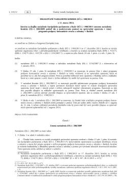 DELEGOVANÉ NARIADENIE KOMISIE (EÚ) č. 500/ 2014