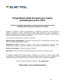Fotografická súťaž Europolu 2010