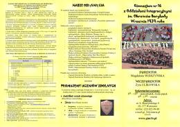 zajęcia pozalekcyjne w roku szkolnym 2013/2014 klasy i