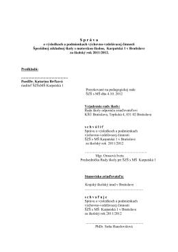 sprava za rok 2011-12_na_web - Špeciálna základná škola Karpatská