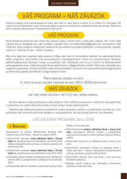 Volebny program - modernaobec.sk