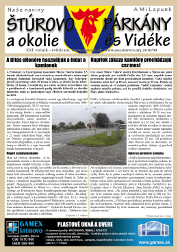 2010/09 - Mesto Štúrovo
