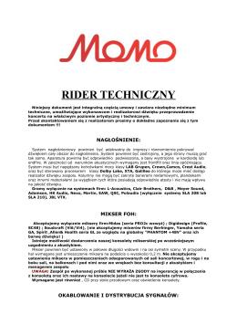 Łzy Akustycznie Rider Dźwięk 2014