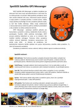 SPOT produktový list (SK)