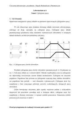 Ćwiczenie 3 Cel ćwiczenia Spis elementów instalacji i przyrządów