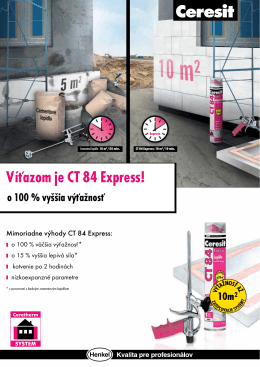 Víťazom je CT 84 Express! - Ceresit CT 84 EXPRESS