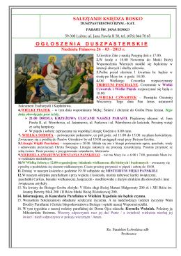 IV Niedziela Zwykła - Kościół i klasztor OO. Franciszkanów w Opolu