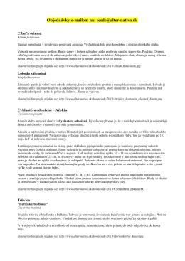 Popis ponuky semien 2013