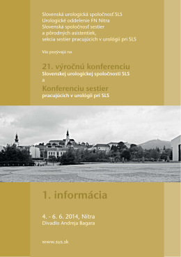 SLS Nitra 2014 1 informacia mailing.indd