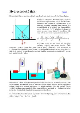 Hydrostatický tlak Nazad