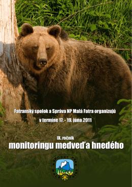 IX. ročník monitoringu medveďa hnedého v Malej Fatre