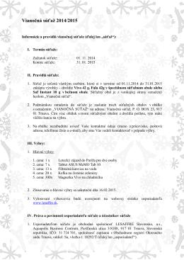 Vianočná súťaž 2014/2015