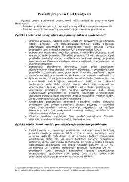 Pravidlá programu Opel Handycars