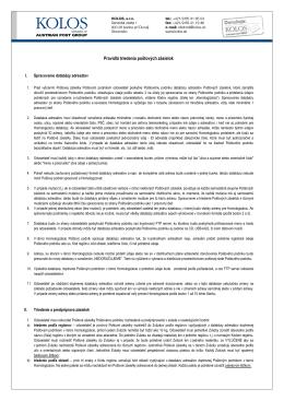 Pravidlá triedenia adresných zásielok (.pdf)