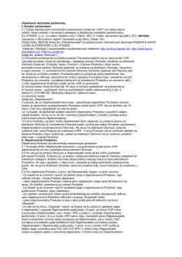 Obchodne podmienky - Solarnesystemy.sk