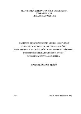 Špecializačné práca KP Coma vigile a neurofeedback T