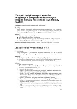 sesje referatowe - XXXIII Zjazd Polskiego Towarzystwa Chorób Płuc