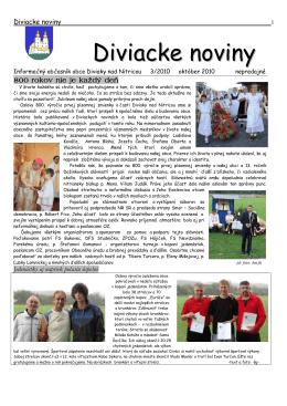 Diviacke noviny - Diviaky nad Nitricou