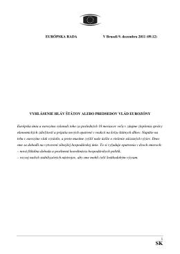 vyhlásenie hláv štátov alebo predsedov vlád eurozóny