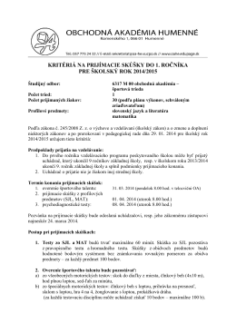 Gymnázium arm - Obchodná akadémia, Komenského 1, 066 01