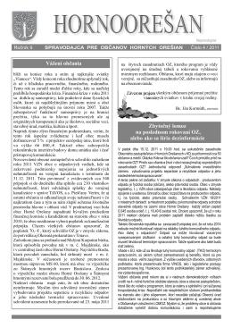 Hornoorešan - číslo 4/2011