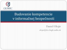 Budovanie kompetencie v informačnej bezpečnosti