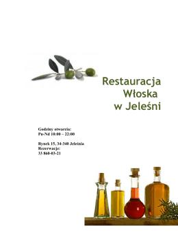 menu w kwocie 46 pln / osobę