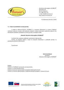 Združenie mikroregiónu SVORNOSŤ Nitrianska 2/3 955 01