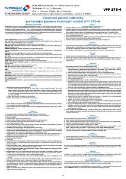 VPP 275-4 - Komunálna poisťovňa