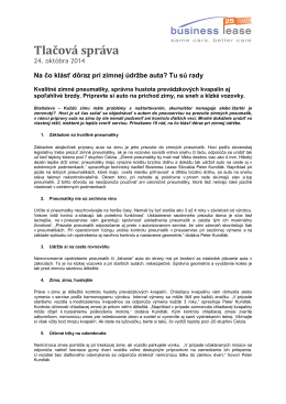 2014-10-24 Na čo klásť dôraz pri zimnej údržbe auta