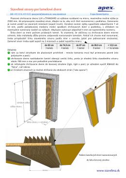 Stavebné otvory pre lamelové dvere