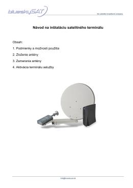 Návod na inštaláciu satelitného terminálu