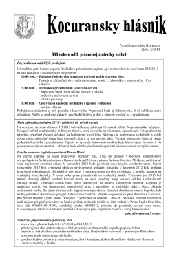 Kocuransky hlásnik 02/2013