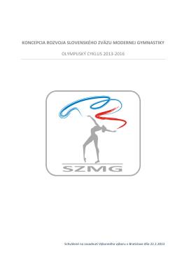 koncepcia rozvoja slovenského zväzu modernej gymnastiky