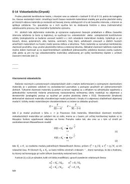 D14. Viskoelasticita. Maxwellov model. Kelvinov (Voigtov)