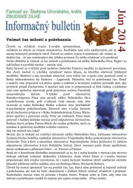 06-2014 - Farnosť sv. Štefana Uhorského Zbudské Dlhé