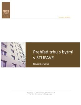 Prehľad trhu s bytmi v STUPAVE