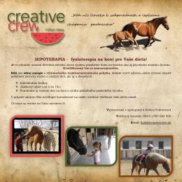 HIPOTERAPIA - fyzioterapia na koni pre Vaše dieťa!