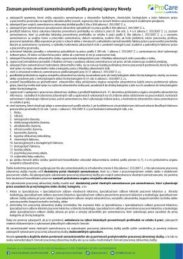 Zoznam povinností zamestnávateľa podľa právnej úpravy