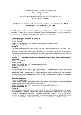Slovenská astronomická spoločnosť pri Slovenskej