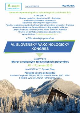 VI. slovenský vakcinologický kongres, Štrbské pleso