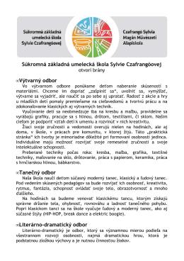 Súkromná základná umelecká škola Sylvie Czafrangóovej