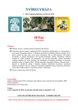 NYÍREGYHÁZA 18 Eur