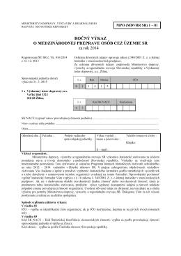 mpo (mdvrr sr) 1-01 - Štatistický úrad SR