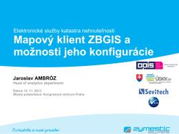 Mapový klient ZBGIS a možnosti jeho konfigurácie